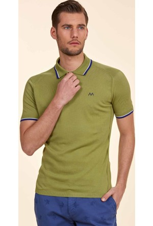 Hemington Yeşil Polo Yaka Triko T-Shirt