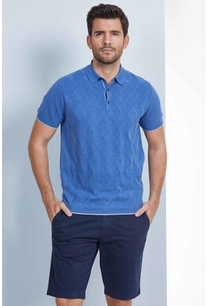 Hemington Mavi Polo Yaka Triko T-Shirt