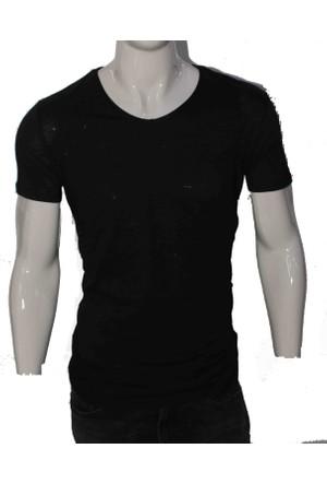 Burayspor Siyah Basic V Yaka T-Shirt G5715Aa00