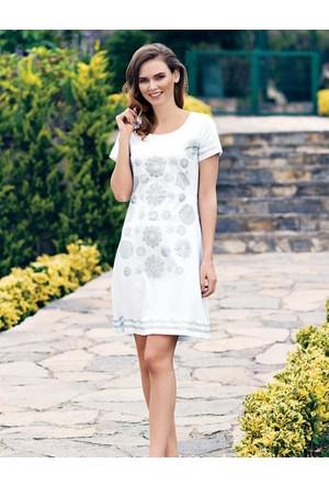 Mel Bee Kadın Elbise Beyaz MBP23302-1