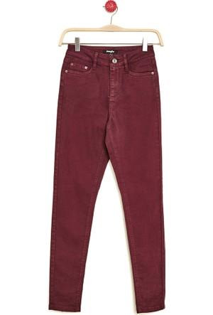 Hogg Fermuar Paçalı Denim Pantolon