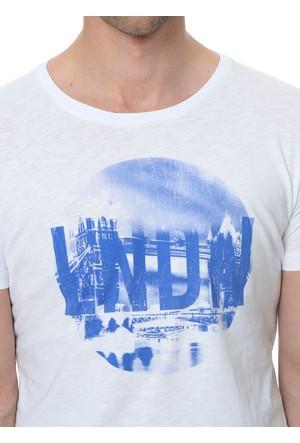 Fabrika Baskılı Beyaz T-Shirt