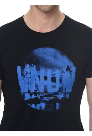 Fabrika Baskılı Siyah T-Shirt