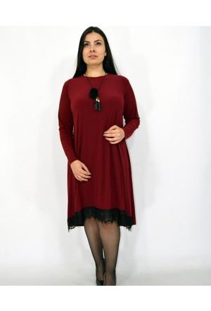 Violetta Dantel Detaylı Elbise