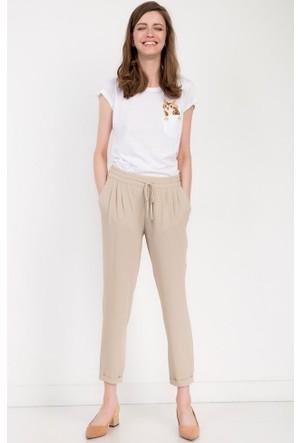 Bsl Fashion Bej Pantolon 10236