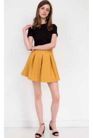 Bsl Fashion Hardal Mini Etek 7345