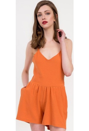 Bsl Fashion Kiremit Tulum Elbise 9127