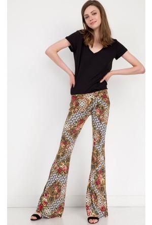 Bsl Fashion Yeşil Pantolon 9180