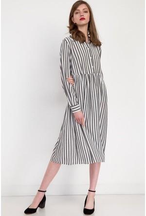 Bsl Fashion Antrasit Elbise 9230