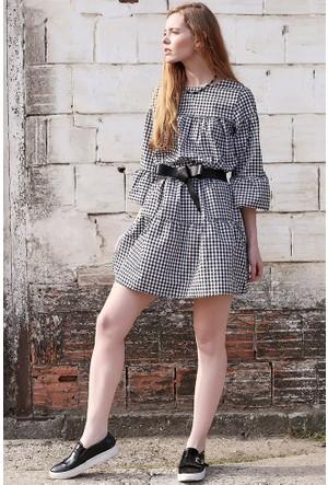 Bsl Fashion Siyah Elbise 9262