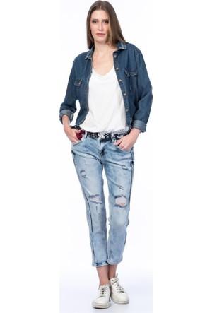 Rodin Hills Açık Mavi Kadın Kot Pantolon Boy Frend Lb-1083