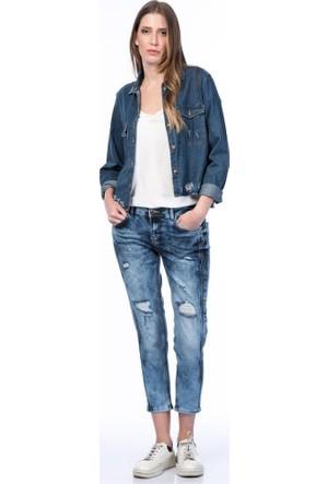 Rodin Hills Koyu Mavi Kadın Kot Pantolon Boy Frend Lb-1083