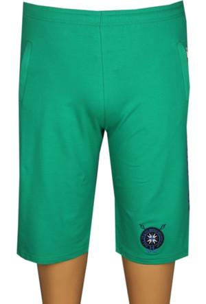 Fala Jeans Büyük Beden Penye Kapri - Yeşil