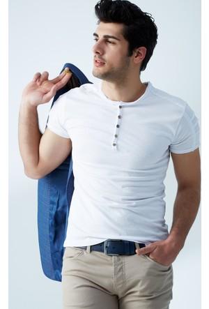 FullaModa Düğmeli T-Shirt 17Y17DMRBRAND0009300