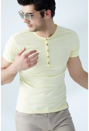 FullaModa Düğmeli T-Shirt 17Y17DMRBRAND0009337
