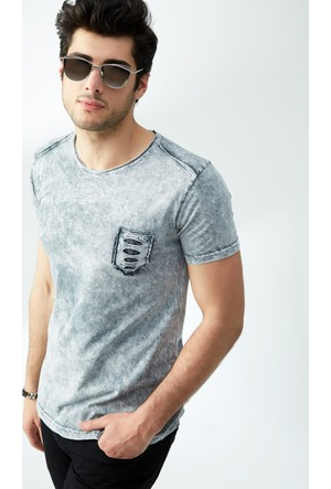 FullaModa Yıkamalı T-Shirt 17Y17SAI000212