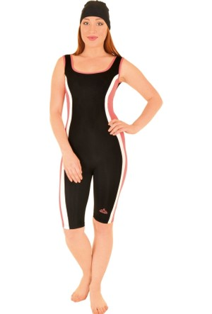 Odema Kadın Yüzücü Mayo Siyah-Pembe R5