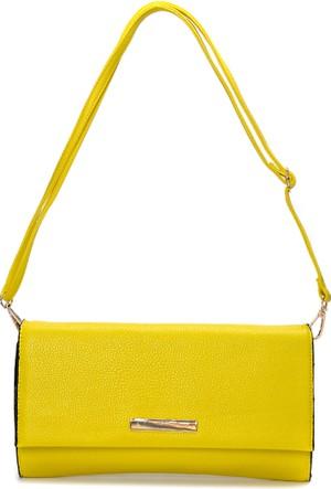 David Jones Kadın Clutch Çanta Sarı