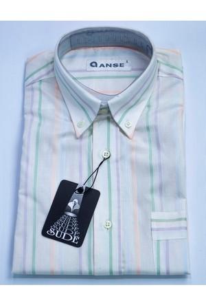 Anse Erkek Gömlek Kısa Kollu Cepli 2