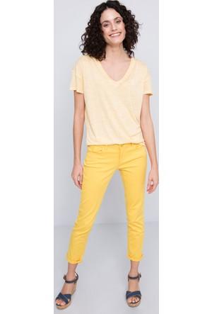 U.S. Polo Assn. Kadın Gadella V Yaka T-Shirt Sarı