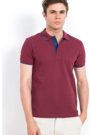 Cazador Polo Yaka Slim Fit ErkekT-Shirt Vişne 4614