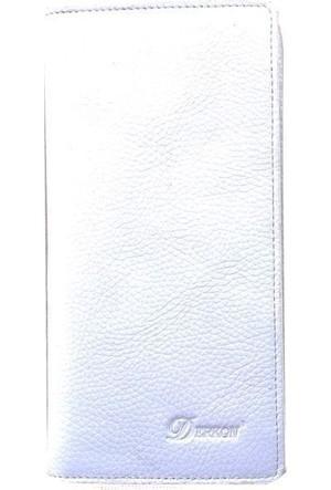 Derkon Style 469 Kadın Uzun Deri Cüzdan Beyaz