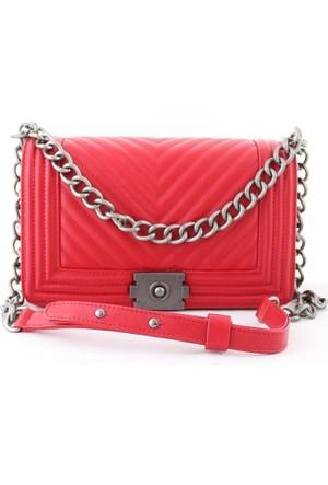 Biggi 3031 Kadın Postacı Çanta Kırmızı