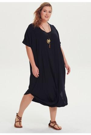 Los Banditos Büyük Beden Elbise Siyah