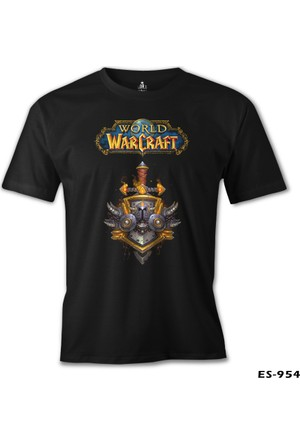 Lord T-shirt World Of Warcraft Logo Siyah Erkek T-Shirt