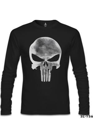 Lord T-shirt Punisher Logo Siyah Erkek Sweatshirt
