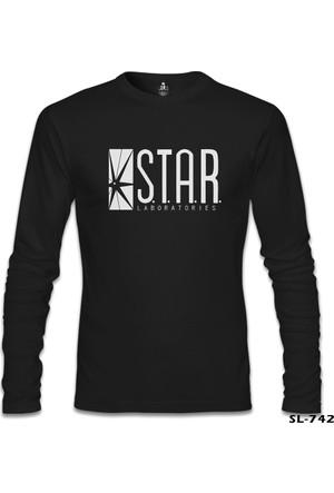 Lord T-shirt Flash S.T.A.R. Laboratories Siyah Erkek Sweatshirt