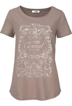 Bpc Bonprix Collection - Kahverengi Yarım Kollu T-Shirt