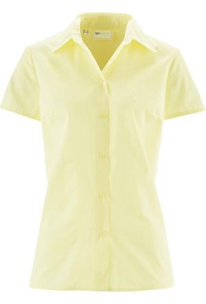 Bpc Selection Kadın Sarı Kısa Kollu Gömlek