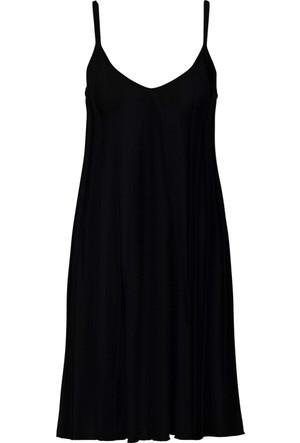 Rainbow Siyah V Yaka Elbise