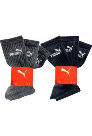 Puma Erkek Siyah Spor Çorabı (6Lı Pakette)