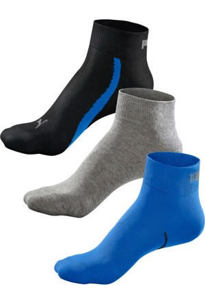 Puma Erkek Mavi Kısa Çorap (3Lü Pakette)