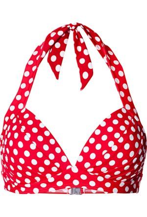 Bpc Bonprix Collection Kadın Kırmızı Puantiyeli Bikini Üstü