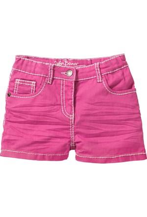 John Baner Jeanswear Kız Çocuk Pembe Kırışık Görünümde Şort