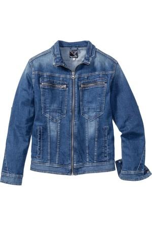 Rainbow Erkek Mavi Streç Jean Ceket Regular Fit