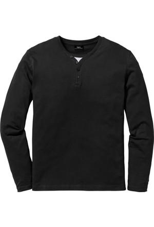Bpc Bonprix Collection Erkek Siyah Uzun Kollu T-Shirt