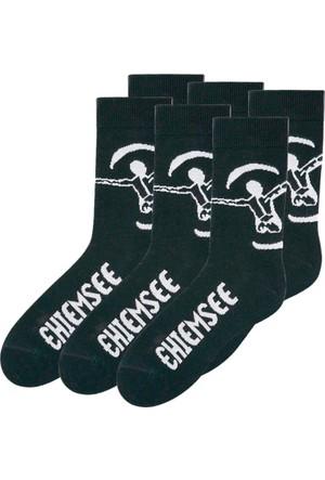 Chiemsee Erkek Siyah Çorabı (6Lı Pakette)