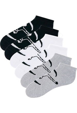 Chiemsee Erkek Siyah Spor Çorabı (6Lı Pakette)