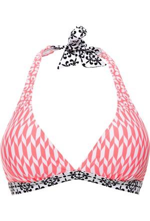 Bpc Bonprix Collection Kadın Pembe Boyundan Bağlanan Bikini Üstü
