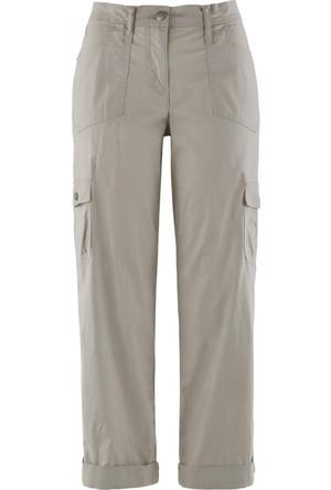 Bpc Bonprix Collection Kadın Gri Kısa Paça Kargo Pantolon