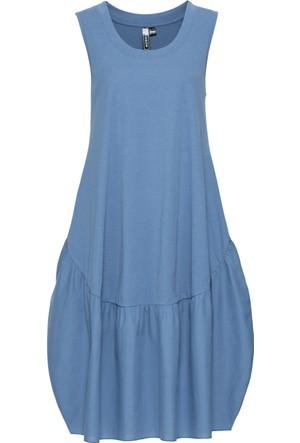 Rainbow Kadın Mavi Dökümlü Elbise