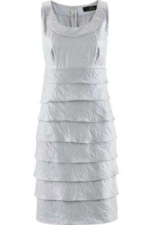 Bpc Selection Premium Kadın Gri Volanlı Elbise