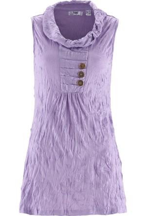 Bpc Bonprix Collection Kadın Lila Krinkıl Bluz