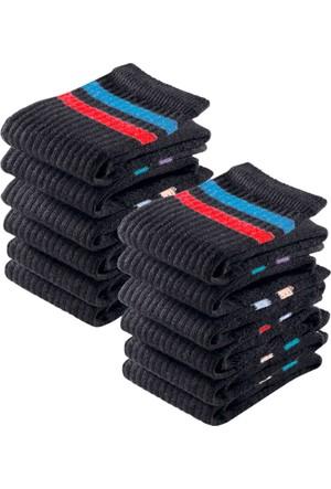 Bonprix Erkek Siyah Go In Spor Çorabı (12Li Pakette)
