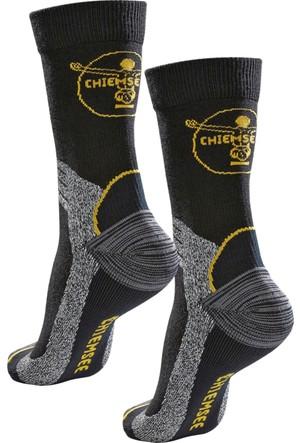Chiemsee Erkek Siyah Yürüyüş Çorabı (2Li Pakette)
