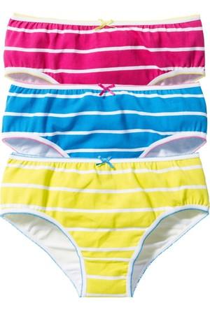Bpc Bonprix Collection Kız Çocuk Mavi Külot (3Lü Pakette)